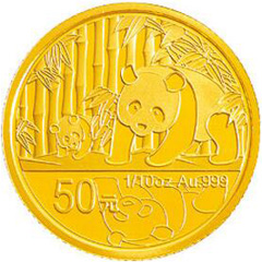 中国熊猫金币发行30周年金质(50元)纪念币